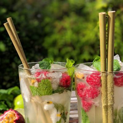 Pailles en bambou spécial cocktail
